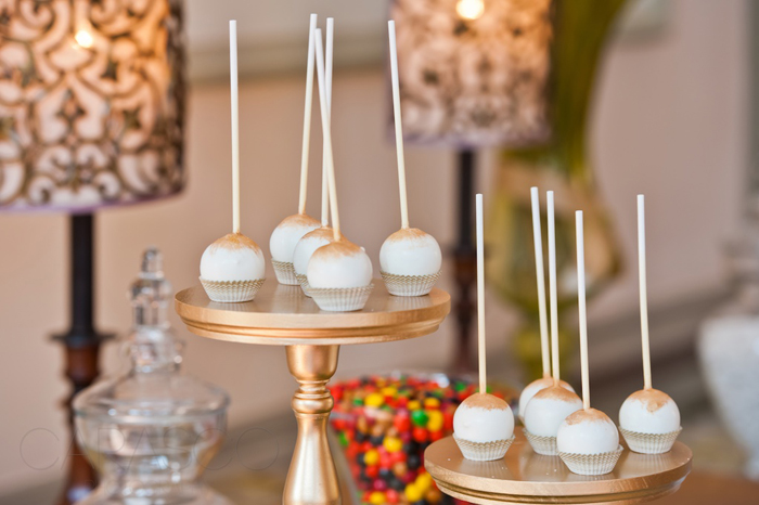 Mad Men Inspired Dessert Table Caramel Dusted Cake Pops