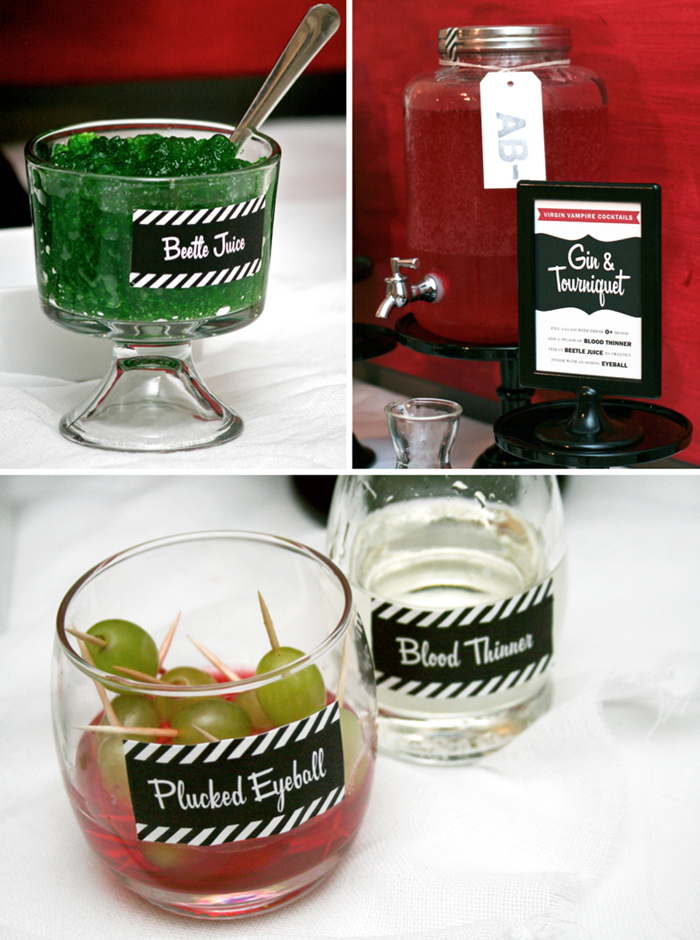 Vampire Mixology Blood Bar Halloween Inspiration