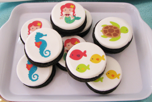 Mermaid inspired girls parties cookies