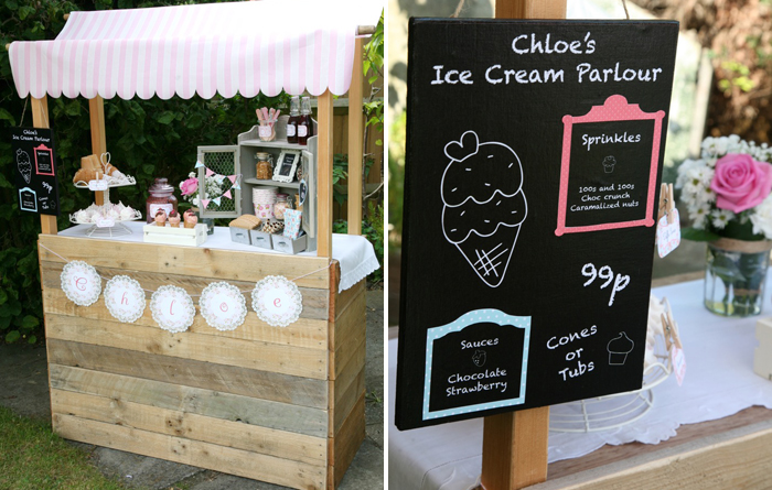 Ice Cream Party Dessert Table Party for Kids