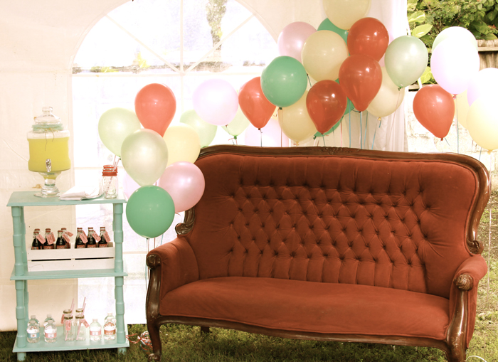 Circus themed party Lounge Area