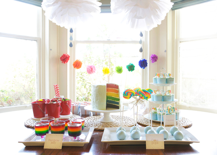 Rainbow Dessert Table for Girls
