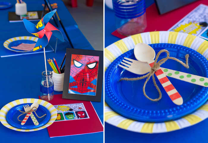 Superman Inspired Party Table ideas