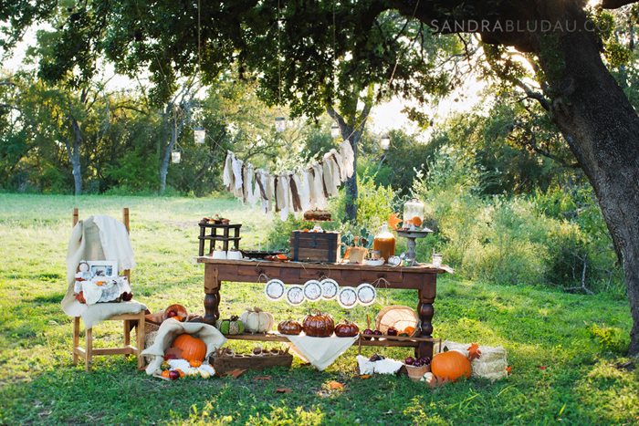 Rustic Fall Inspired Dessert Table