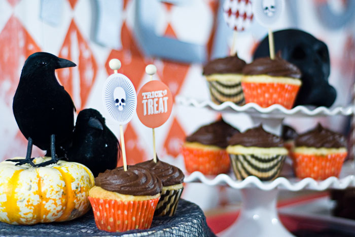 Halloween Carnival Dessert Table Cupcakes