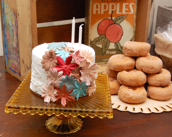 Apple Orchard Fall Inspired Dessert Table Doughtnuts