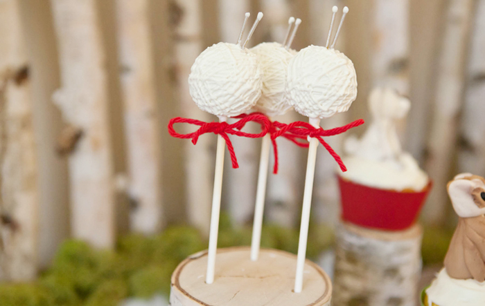 Mitten Party Dessert Table for Kids