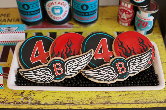 Motorcyle Party for boys | Sugar Cookies
