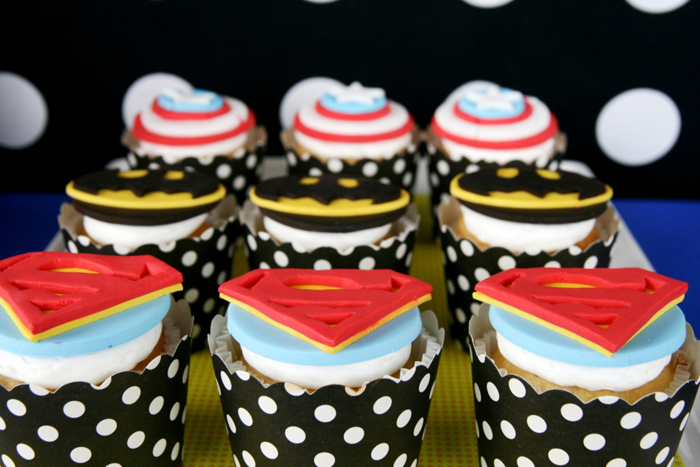 Superhero Party for Boys | Superhero Cupcakes