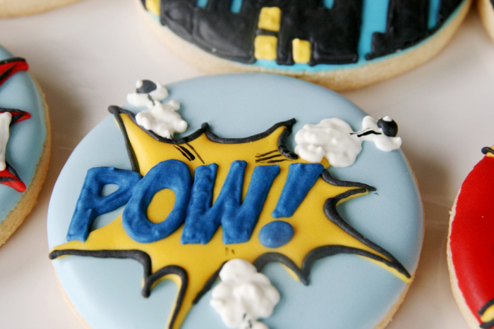 Superhero Birthday Party for Boys | Sugar Cookies