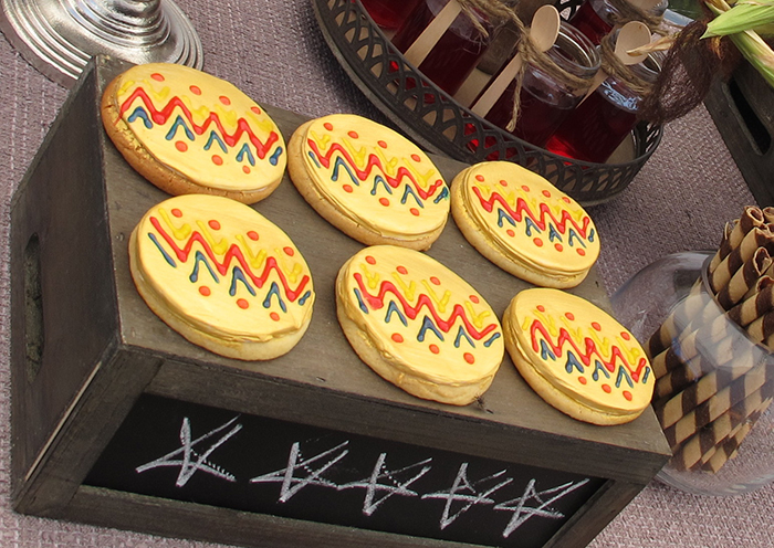 chevron cookies