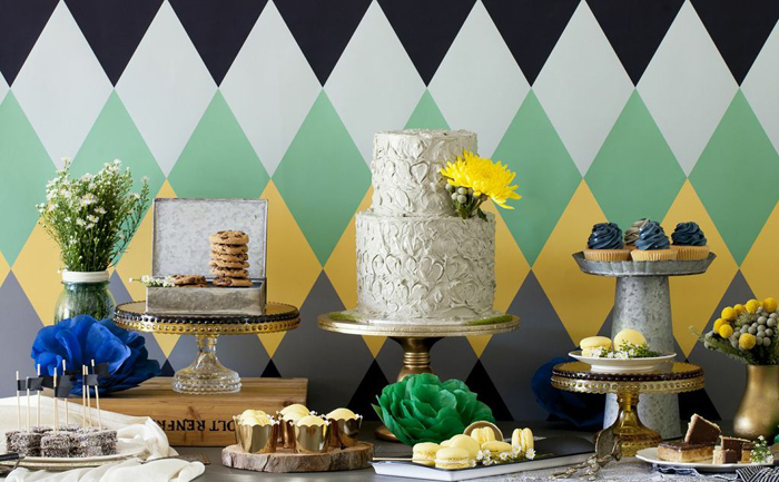 Harlequin Designed Dessert Table