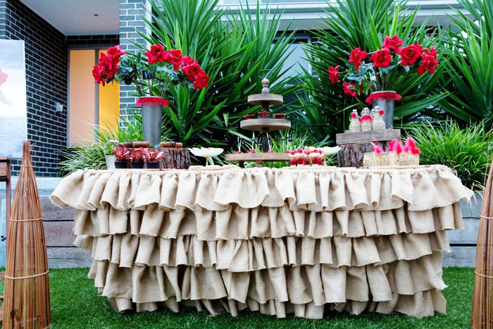 Flamenco Inspired Dessert Table