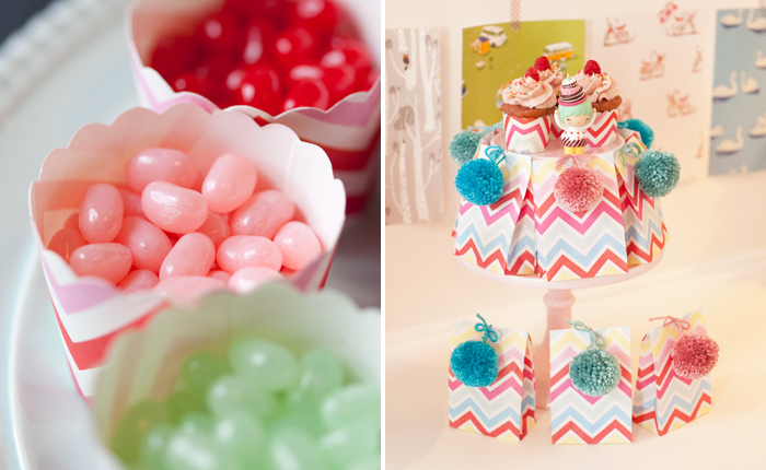 Crafting Party for Girls   Chevron Candy Cups
