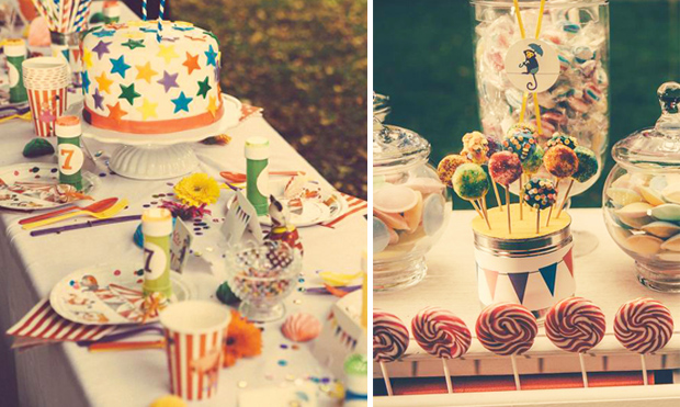 Circus Party for Kids | Table Decor