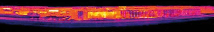 Immagine realizzata con la funzione Panorama con una risoluzione di 140x140 pixel e una sensibilità termica < 100 mK.