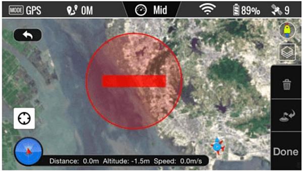 Se compare un cerchio rosso non è possibile inserire WAYPOINT
