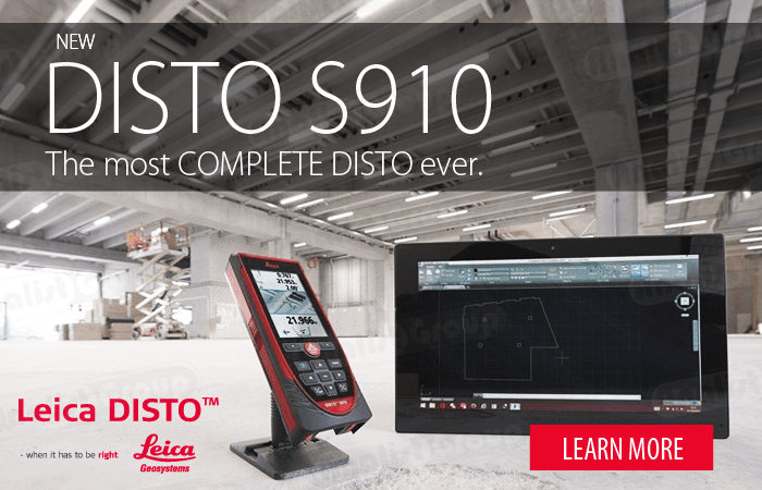 Learn more about the new Leica Disto S910 Distance Laser Metre