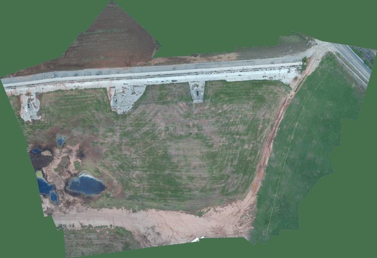 Ortofoto del Campo di Avena generata con Phantom MAPIR e Pix4Dmapper