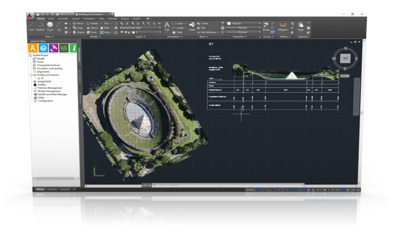 With Analist CLOUD you can work directly on the Point Cloud.