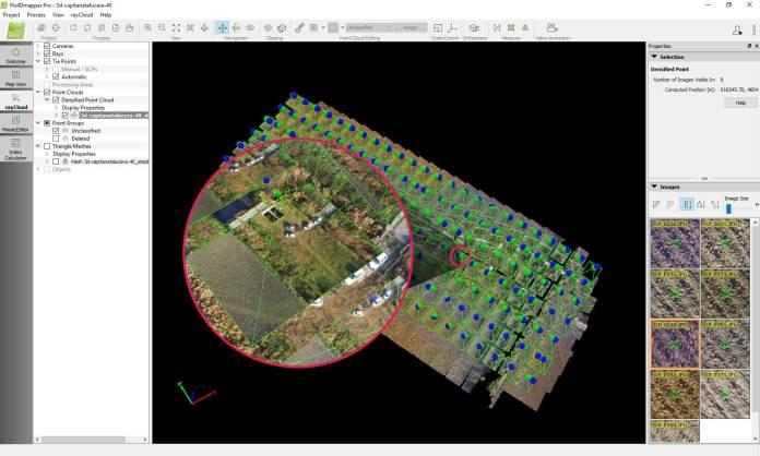 Posizione GPS e Posizione corretta in Pix4Dmapper