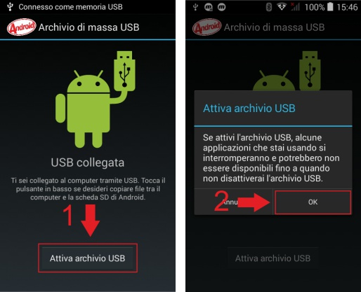 attivazione usb chc i80 android