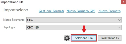 importazione file libretto analist cloud software di topografia basato su tecnologia Autodesk