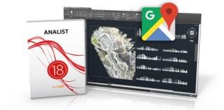 Software topografia Google api key in Analist CLOUD