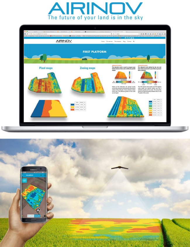 Mappe NDVI on line con AIRINOV First +