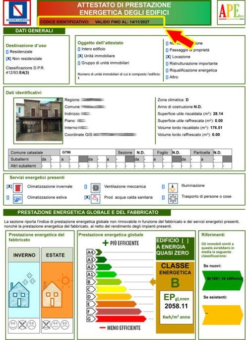 Certificato APE - Certificazione Energetica
