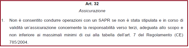 Regolamento ENAC art32