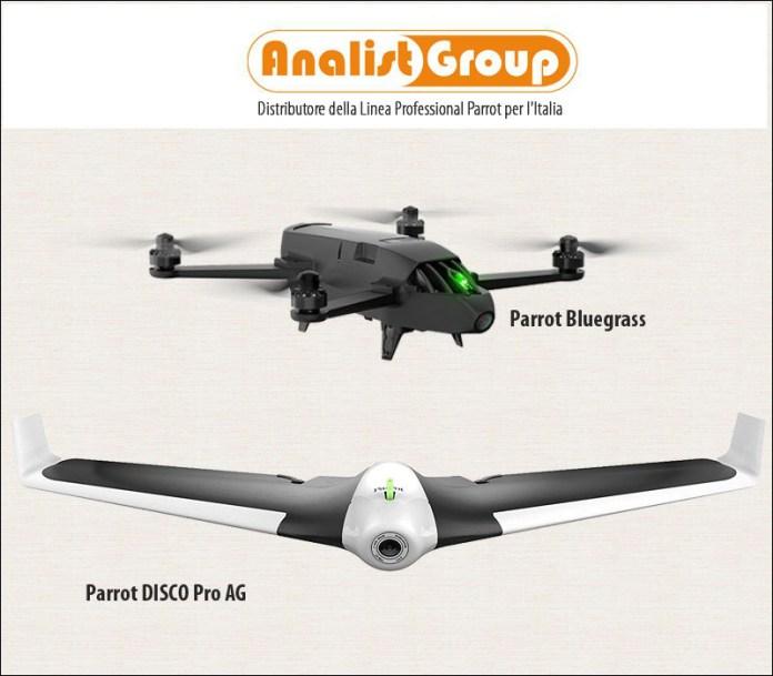 Parrot Drone Bluegrass e Disco Pro AG