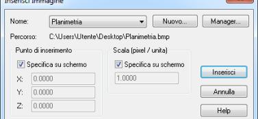 TermiPlan seleziona planimetria raster