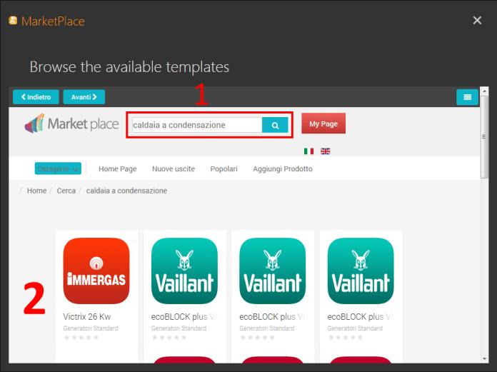 Marketplace ricerca generatore TermiPlan