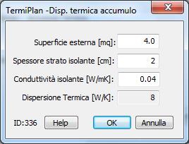 Calcolo dispersione termica accumulo