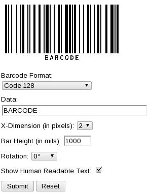 Generar y leer código de barras en linea