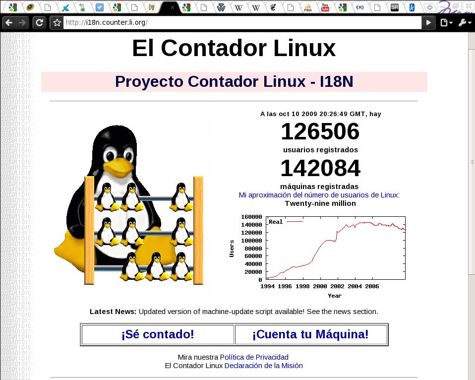 Registrando nuestro GNU/Linux y ser parte de la comunidad