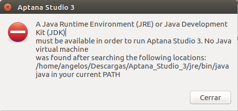 Corregir el error A java Runtime Environment (JRE) or Java Development Kit (JDK)