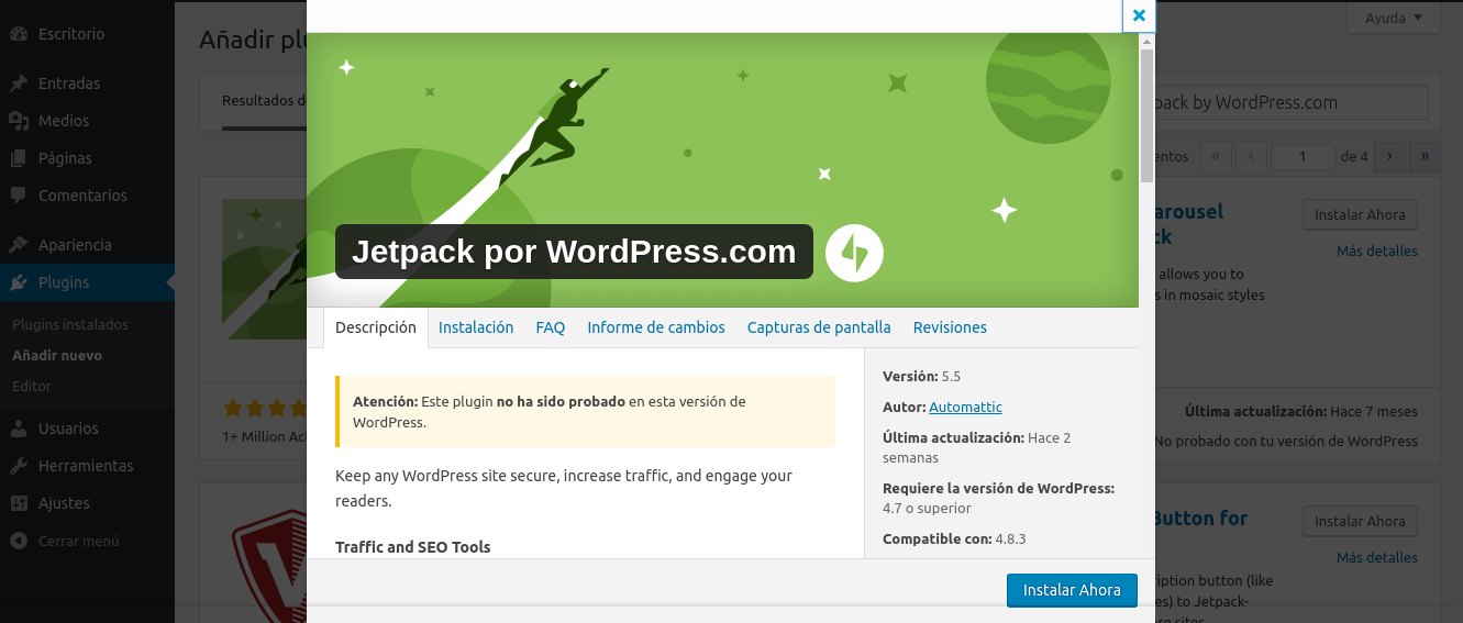 SEO en WordPress, Jetpack un plugin que nos ayuda