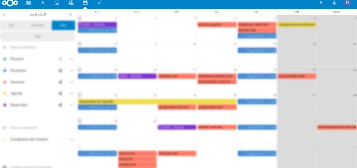 Calendario de Nextcloud