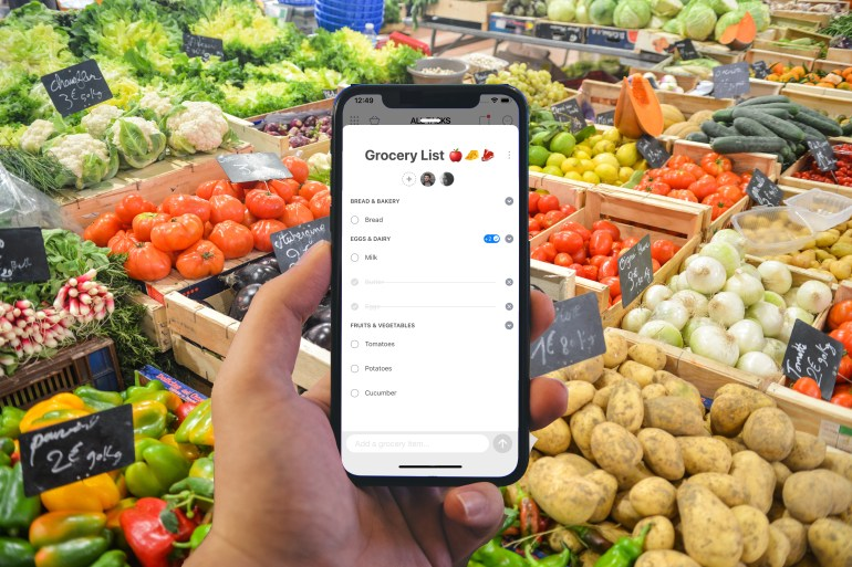 anydo smart grocery list feature