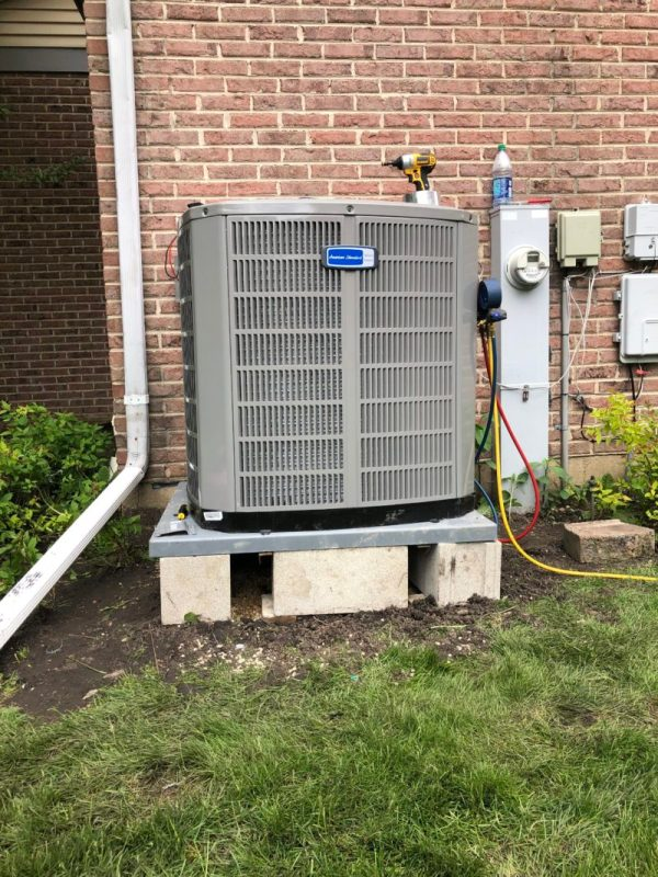 Installing New American Standard 5 Ton Air Conditioner Unit in Des Plaines IL