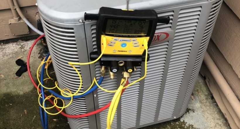 Charging 410-a Freon to Lennox Air Conditioner in Mount Prospect IL