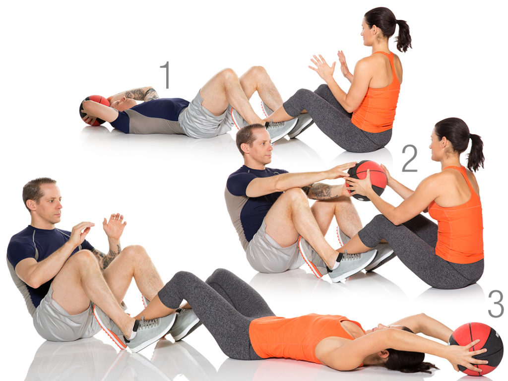 Image result for Partner ball sit ups