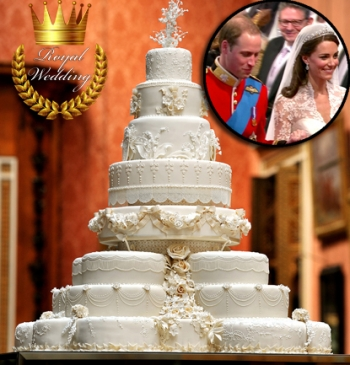 Prince William and Kate tarta nupcial