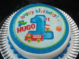 Tarta acabado Fondant Primer Cumpleaños