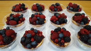 Cheese Cake individual con frutos del bosque