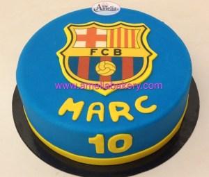 Tarta Fondant FC Barcelona