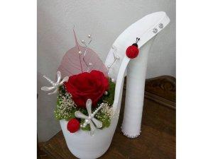 Zapato con flor eterna