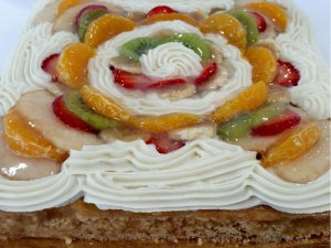 Tarta de Frutas sin gluten y vegana